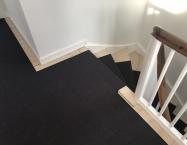 Sort sisal tilpasset trappe, repos og entré