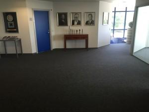Her har vi monteret i kontorlandskab med Hammerthor Sisal 423-85